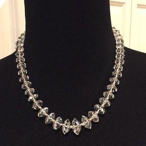 Jewelry - Vintage AB unusual cut crystal necklace